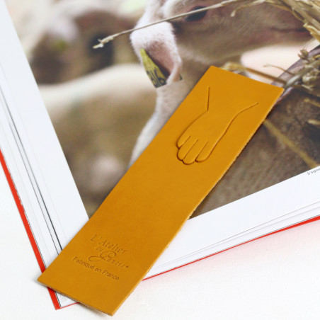 marque-page en cuir