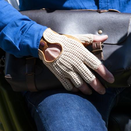 Gant de conduite cuir et crochet - L'intemporelle homme personnalisable