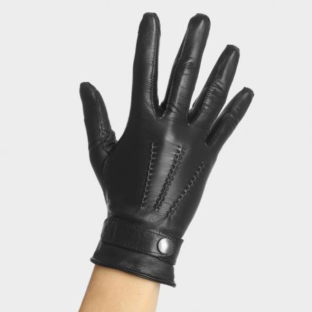La Charmeuse Noir - Gant cuir dame
