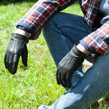 Gant pécari noir pour homme