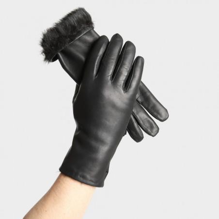 Gant cuir doublé lapin pour homme - Le Gentleman 48h