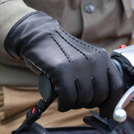 L'Indispensable - Gant cuir homme noir