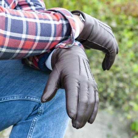 L'Indispensable Fauvette - Gant cuir homme