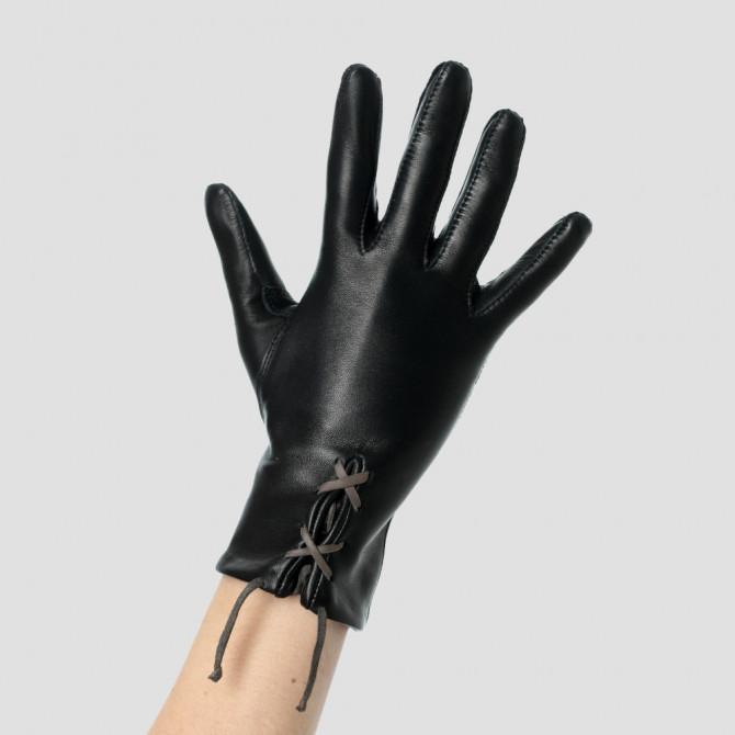 Gant cuir personnalisable avec lacet bengali - Le séducteur dame