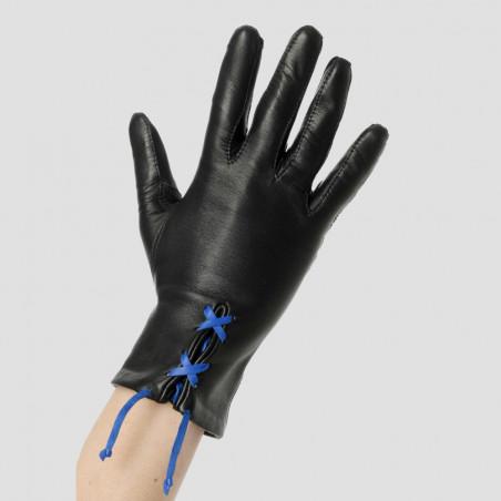 Gant cuir personnalisable avec lacet gitane - Le séducteur dame