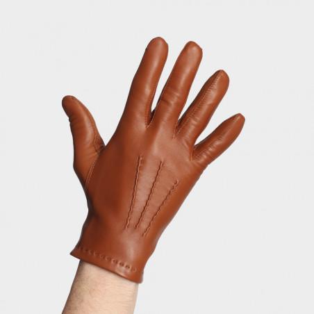 Gant cuir pour homme - Le Déterminé teinte noisette
